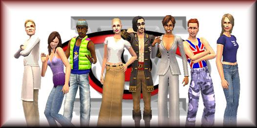 From left to right: Gordon, Hilary, Snoop, Britney, Johnny, Trisha, Harry, Mia